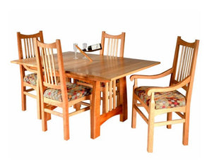 Highland Table and Highland Chairs in Natural Cherry with Contrasting Accents