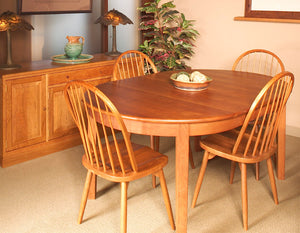 Oval 4-Leg Table in Cherry with Mahogany Wash is Made in Virginia, Made in America, Made in the USA located near Gainesville