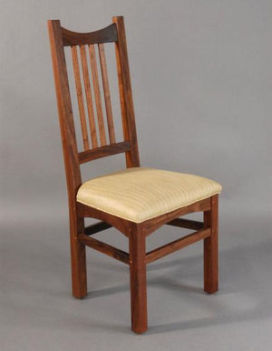 Highland Chair in Walnut - made by hand side chair with your choice of upholstery seat coverings to pick from near Burke