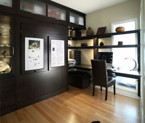 Office Built-Ins by Hardwood Artisans feature customized built-in wood cabinet/s & bookcase/s near Dinwiddie County VA