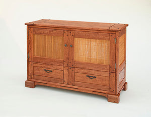 Custom Javiars Entertainment Center in Mahogany