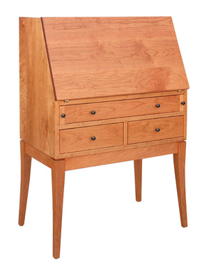 Simply Beautiful Secretary Desk custom family heirloom home office furniture in a wide range of solid hardwoods and finishes