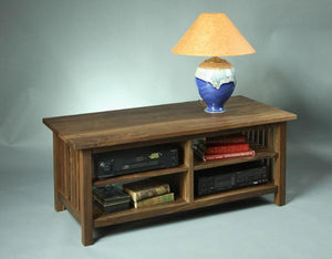 Crofters TV Stand in Walnut custom sustainable Living Room furniture Made in the USA by Hardwood Artisans near Oakton, VA