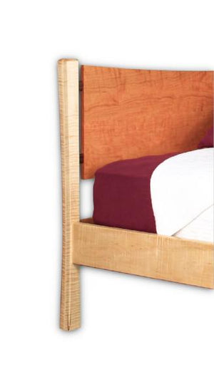 Baton Rouge Bed in twin, full, queen & king sizes and in assorted hardwood quality bedroom furniture custom Made in the USA