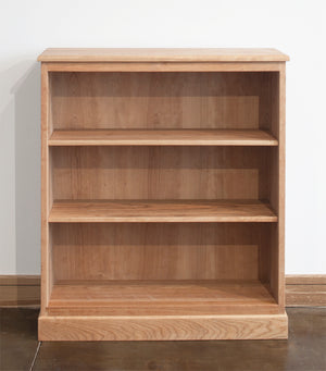Shaker Bookcase shows solid wood sustainable living area furniture made by hand in Virginia near Washington DC and Maryland