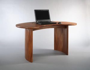 Custom Office Designs - Fava Desk in Mahogany bespoke furniture by Hardwood Artisans near Prince Georges County, Maryland