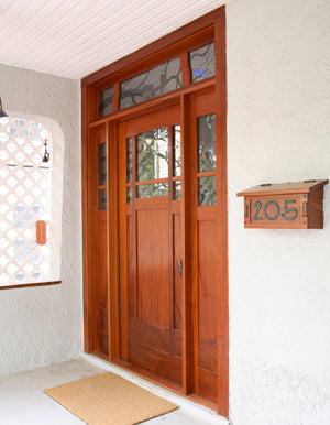 Front Door in Mahogany a custom-made Hardwood Artisans Living Room Entry Solution in Virginia, Maryland and Washington DC