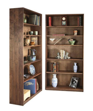Basic Bookcase in Cherry with Mahogany Wash a classic style living addition made by bespoke furniture maker Hardwood Artisans