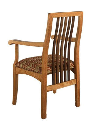 Century Chair (arm chair) in Natural Cherry with Walnut Slats and upholstered seat kitchen & dining furniture near Oakton VA