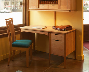 Susan Desk shown w/ Susan Hutch home office work station furniture by Hardwood Artisans in VA, Maryland, & Washington DC