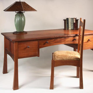 Glasgow Desk w/ three drawers sustainable professional or home office furniture custom-made to order at Hardwood Artisans