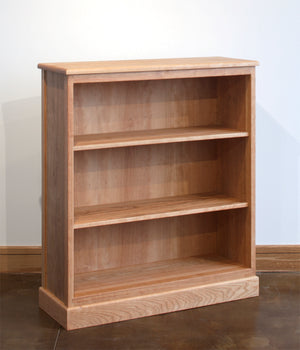 Shaker Bookcase living area furniture in red oak, birch, maple, cherry, mahogany, curly maple or 1/4 sawn white oak hardwood