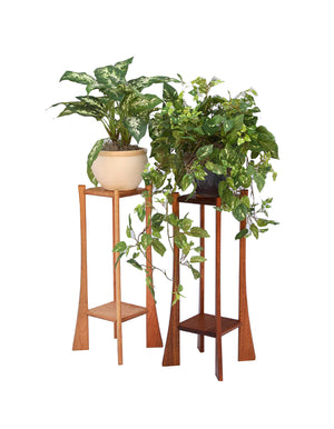 Square Plant Stands in Cherry and Mahogany