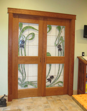 Custom Front Door in Natural Cherry
