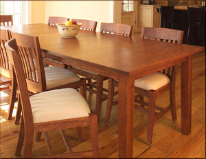 Large Shaker Table shown with Custom Middleburg Chairs in Cherry w/ Mahogany Wash made-to-last dining furniture near Sterling