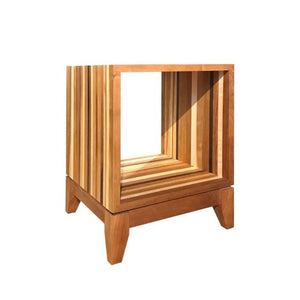 Jeannie Cube Base, Jeannie Pedestal, and Jeannie Cube are sustainable furniture pieces for you or as a gift Made in the USA