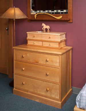 Shaker 3-Drawer Chest in Birch, Dresser available in various hardwood, bedroom furniture by Hardwood Artisans near Cheltenham