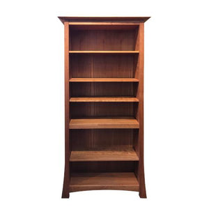 Glasgow Bookcase furniture handmade in red oak, birch, maple, cherry, mahogany, curly maple or 1/4 sawn white oak hardwood