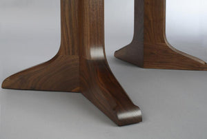 Century Table in Mahogany made w/ split pedestal base & sustainable harvested wood also in extension version dining table