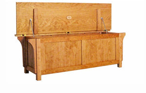 Craftsman Bench Chest in Natural Cherry, Hardwood Artisans Furniture