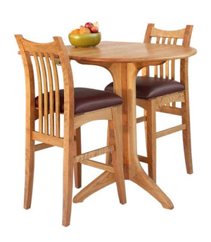 Artisan Stools and Drop Leaf Cafe Table in Natural Cherry