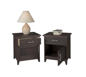 InTransit Nightstand custom made by Hardwood Artisans for small spaces in assorted solid wood bedroom furniture, Washington
