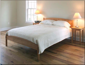 Rhianna Bed in Red Oak