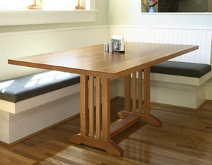 Arts and Crafts Table in Natural Cherry generational heirloom quality dining / kitchen furniture crafted near Glenn Dale MD