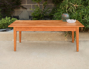 Shaker Coffee Table shown in Cherry is a custom-crafted, hand-finished, solid hardwood living room furniture w/ Amish joinery