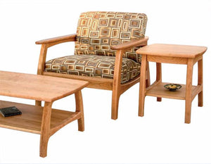 Linnaea Coffee Table,Chair and End Table in Natural Cherry