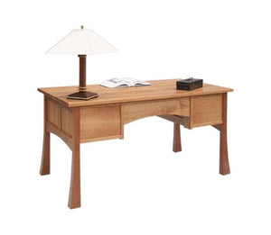 Glasgow Desk w/ beautiful finished back to float in any room has a Pagoda-style look and feel available near Gainesville, VA