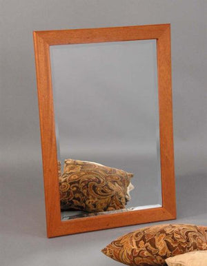 Chamfer Mirror in Mahogany hung Horizontally