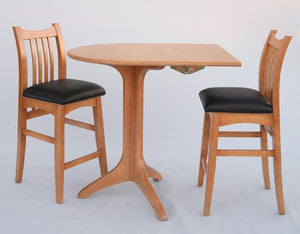 Artisan Stools and Drop Leaf Cafe Table in Maple with Custom Finish and Lacquer