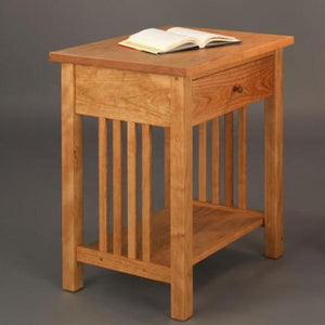 Crofters Nightstand Bedside Table is a classic style bedroom furniture item by Hardwood Artisans near Springfield Virginia