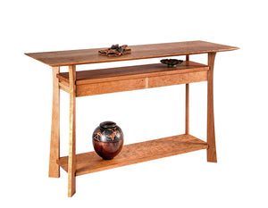 Waterfall Hall Table in Cherry