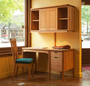 Susan Desk shown w/ Susan Hutch executive work station office furniture by Hardwood Artisans in VA, Maryland, & Washington DC