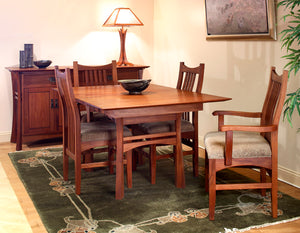Small Waterfall Table and Artisan Chairs in Mahogany