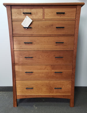 Baton Rouge 7-Drawer Chest is an American Traditional style bedroom furniture custom made for purchase in Northern Virginia