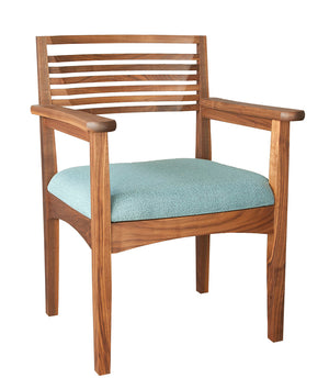 Beehive Chair shown as an arm chair with upholstery seat, handmade seating order online with delivery in VA, MD, and DC