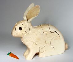 Chapman Puzzle Rabbit in Maple made in USA at Hardwood Artisans in Arlington, Virginia