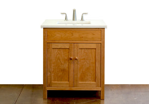 Craftsman Bathroom Vanity handmade wood bathroom cabinetry Made in Virginia near Maryland, Washington DC by Hardwood Artisans