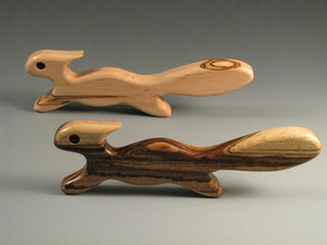 The Friendship Oven Squirrel Oven Pull in assorted solid hardwoods is Made in Virginia, Made in America, Made in the USA