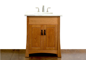 Glasgow Bathroom Vanity handmade solid bathroom furniture Made in Virginia near Maryland & Washington DC by Hardwood Artisans