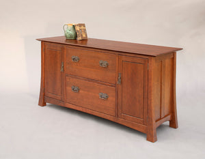 Glasgow Credenza w/ 2 deep file drawers and 2 side cabinets for executive / home office furniture made to order near Hamilton