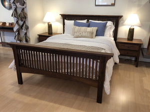 Prairie Bed with Craftsman Nightstands quality made-to-last bedroom furniture made by Hardwood Artisans in the Metro DC area