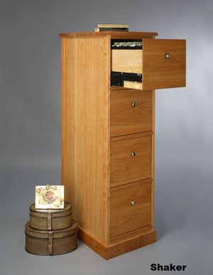 Shaker 4-Drawer File Cabinet custom heirloom quality, sustainable, executive or home office furniture near Tyson's Corner, VA