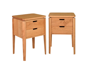 Susan Nightstand is a high quality space saving bedroom furniture design through Hardwood Artisans near Prince William County