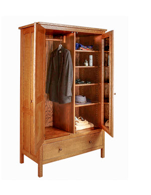 Craftsman 1-Drawer Armoire is an elegant solution for clothing storage in your bedroom in Charlottesville, VA