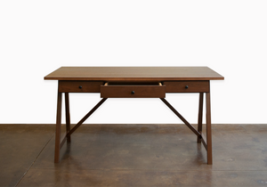 Anna Marie Table Desk is solid sustainable hardwood commercial/residential furniture for studio, home or office in VA, MD, DC