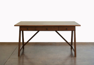 Anna Marie Table Desk w/ simple spacious design has 3 drawers and large top for projects, custom commercial office furniture